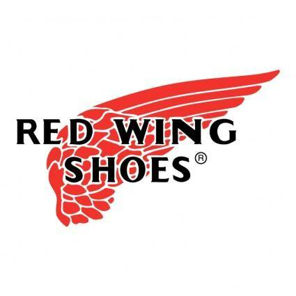 free vector Red wing shoes
