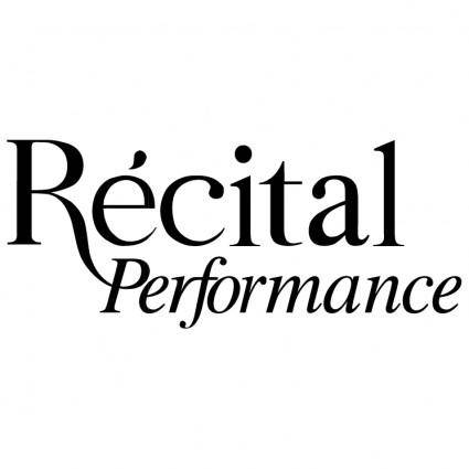 Recital performance
