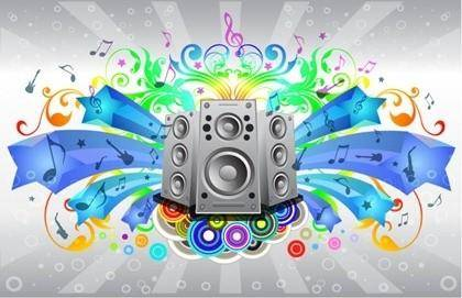 Detailed Sound Free Vector Illustration with Rainbow Gradient