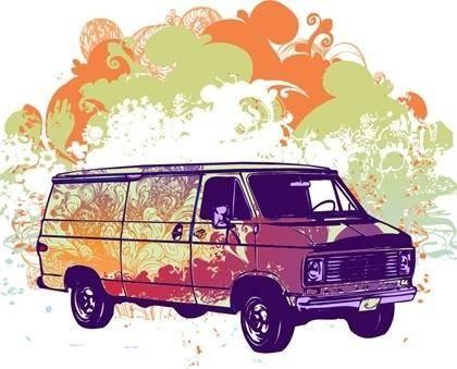 Free Psychadelic Van Vector Graphic
