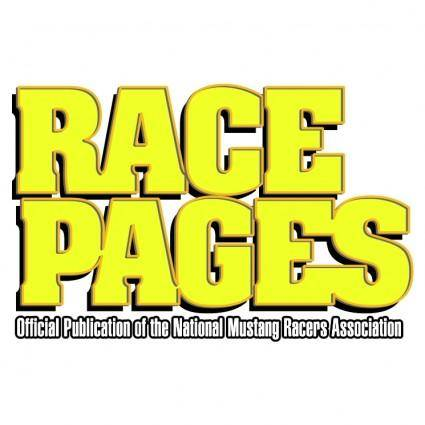 free vector Race pages