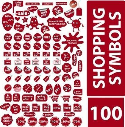 free vector 100 Free Vector Shopping Symbols