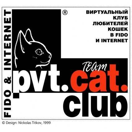 free vector Pvt cat club
