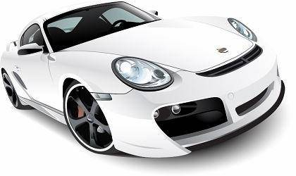 free vector Free WhitePorsche 911 Turbo TechArt Vector