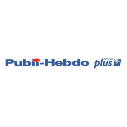 free vector Publi hebdo