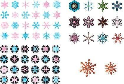 Free Vector Various Snowflake
