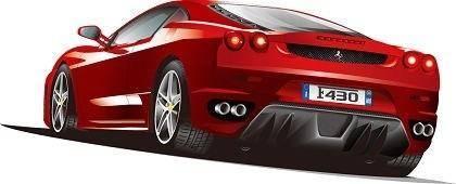 free vector Free Illustrated Ferrari