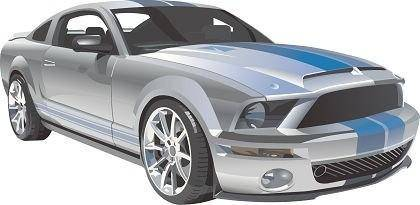 free vector Free Ford Mustang Racing  Vector