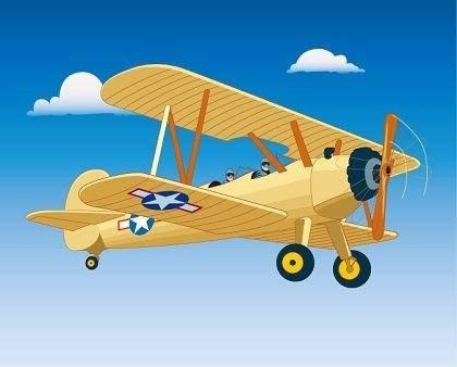 free vector Free Vector Graphics : Vintage Aircraft Flight