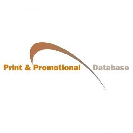 Print promotional database