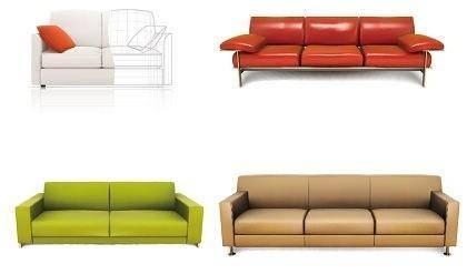 4 Vector Sofas