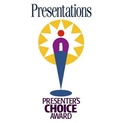 Presenters choice award