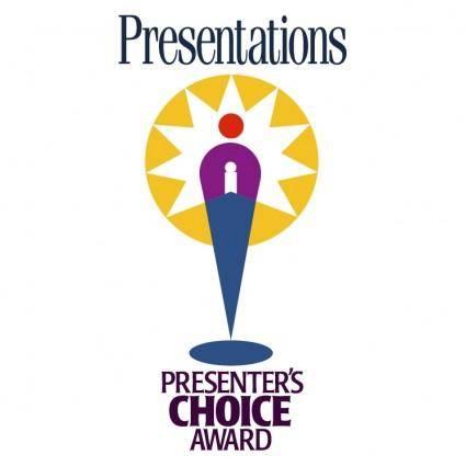 free vector Presenters choice award