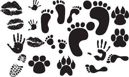 free vector Free Foot,Hand,Lips Print Vectors