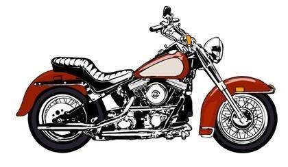 Cool Trend Motorcycle vector