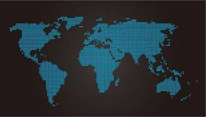 free vector World Map Dot Vector