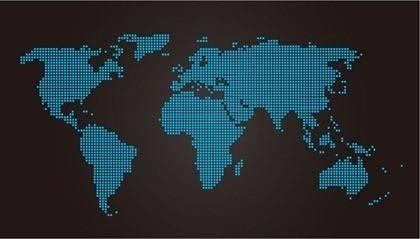 World Map Dot Vector