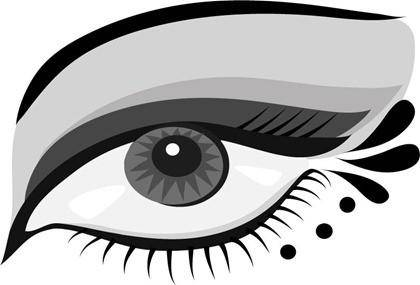 free vector Hand-painted Eyes Vector