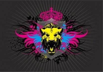free vector Lion Head and Wings Vector