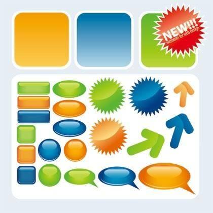 Free Web2.0 Button Vector