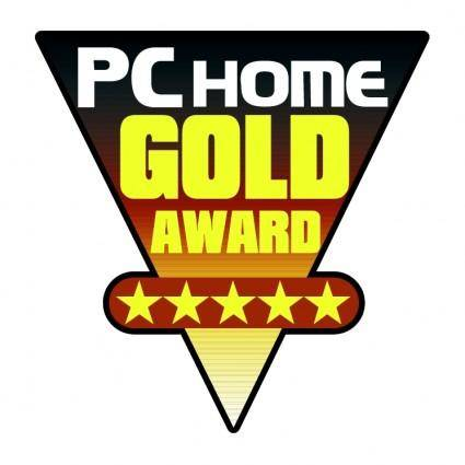 free vector Pc home gold award