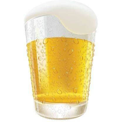 free vector Lifelike Beer Glasses and Beer Bubbles Vector Graphic