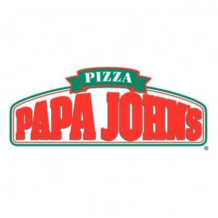 free vector Papa johns pizza 1