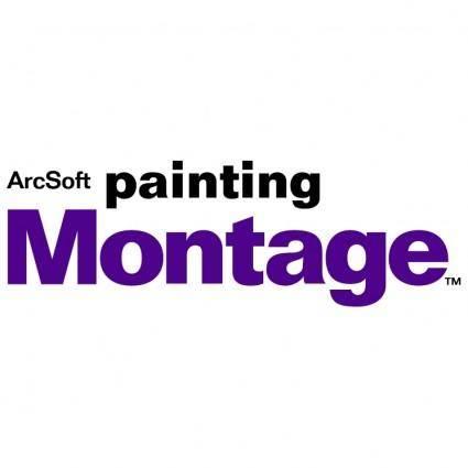 free vector Paintingmontage