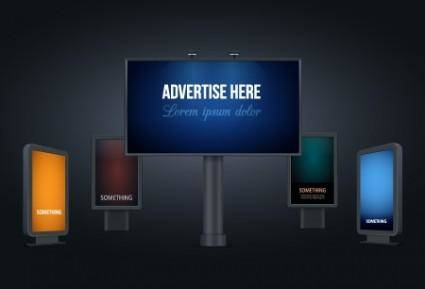 free vector Vector Billboards