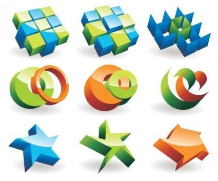 3D Objects Vector