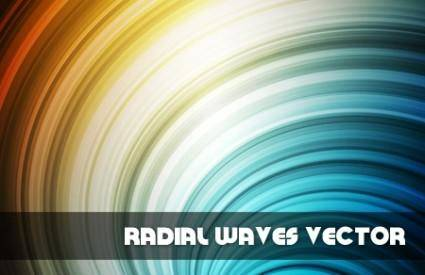 free vector Radial Waves Vector