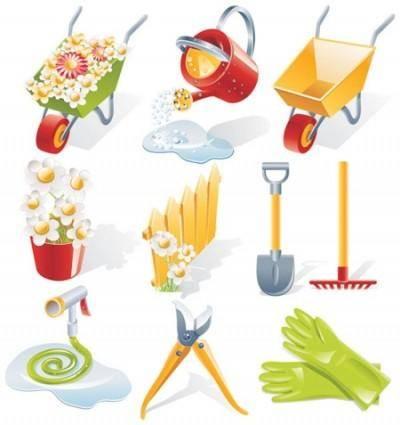free vector Gardening Vector Tools