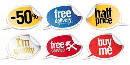 free vector Vector Callout Stickers