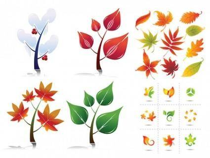 free vector Leaves Vectors