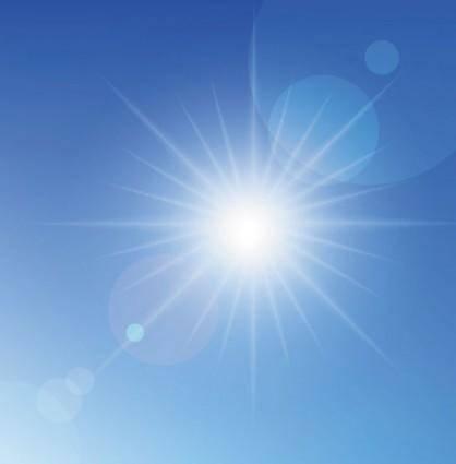 Beautiful blue sky 01 vector