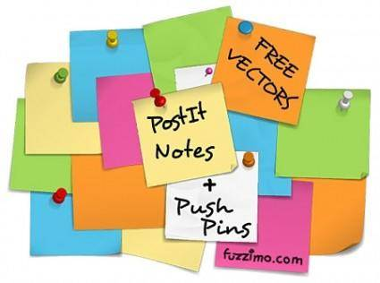 free vector Postit Stickies Vectors