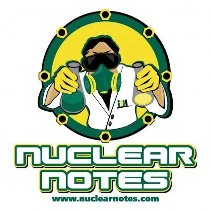 free vector Nuclear notes