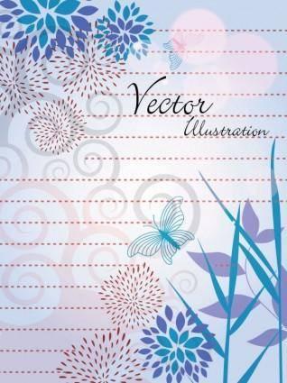 free vector Natural vector illustration line draft 03 vector