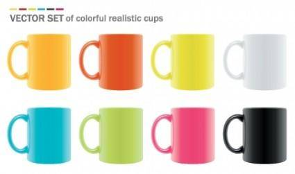 free vector Vector Realistic Mugs
