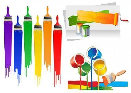 Paint Brushes Vector Collection