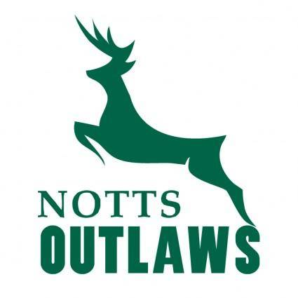 free vector Nottinghamshire outlaws