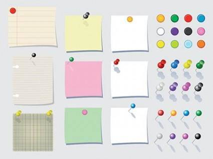Memo Paper Vectors