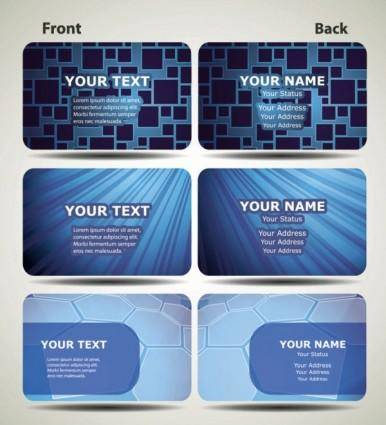 free vector Blue technology business card template 02 vector