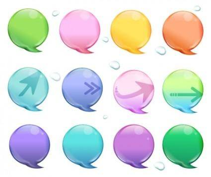 free vector Vector Colorful Callouts