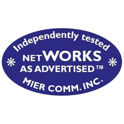 Networks as advertised