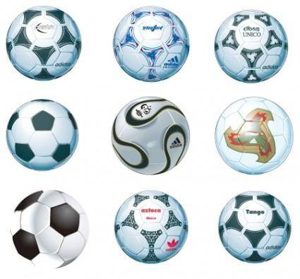 free vector Soccer – Football Balls  Vector