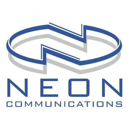 free vector Neon communications