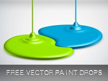 free vector Paint Drop Vectors