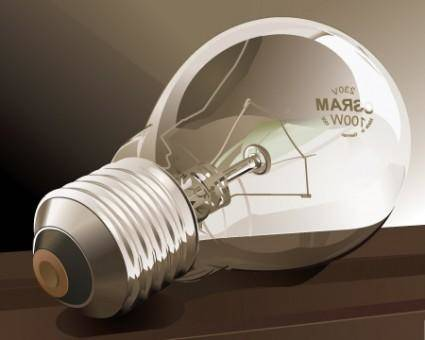 Vector Detailed Light Bulb