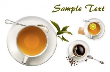 free vector Tea and Coffee Vectors